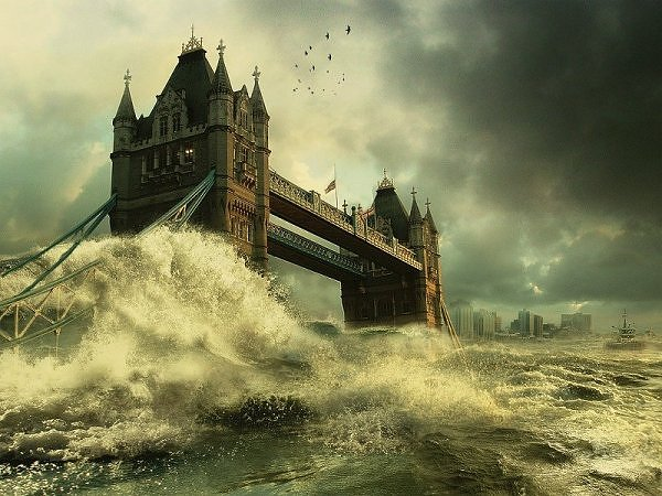 London Bridge flooded